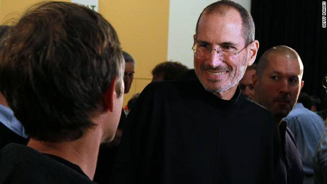 Steve Jobs, who died last week, at the 2010 Apple World Wide Developers conference June 7, 2010 in San Francisco, California.
