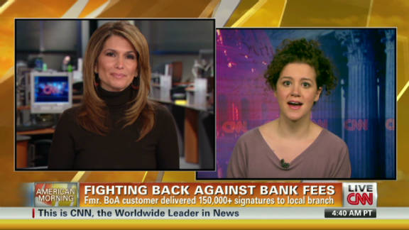 Molly Katchpole, right, led an online campaign against Bank of America's planned debit card fee.