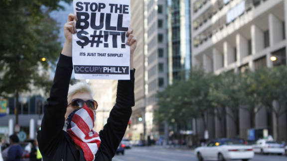 "Victoria Long, 27, is a restaurant server. ""I really think we need to work on the education system,"" she said. ""I would like to have children one day and have those children have good lives. The banks aren't people and don't deserve rights and protection like people."""