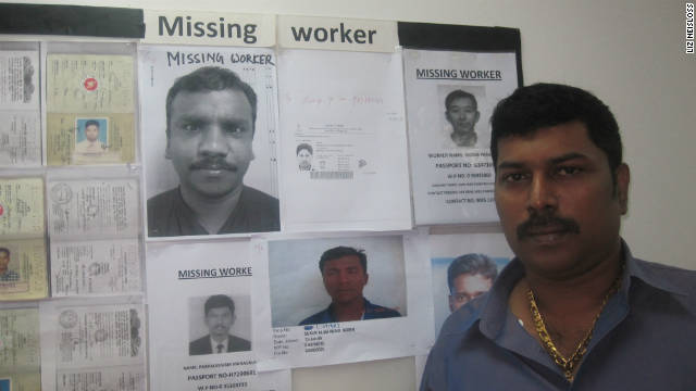 "Ravi is owner of the UTR ""repatriation"" company, which searches for ""missing"" workers in Singapore."