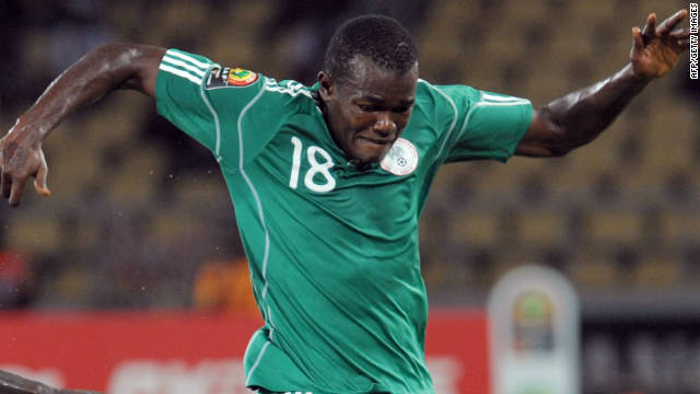 Striker Victor Obinna put Nigeria level in the Africa Cup of Nations qualifier against Guinea.