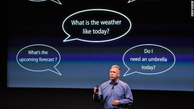 Apple's Senior Vice President of Worldwide product marketing Phil Schiller explains Siri.