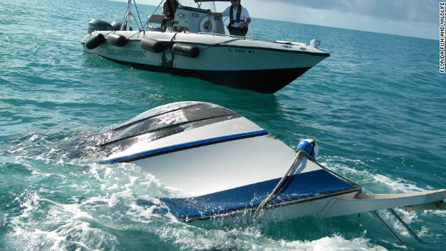 The Coast Guard says there were eight people on a boat that sank Saturday near Marathon, Florida.