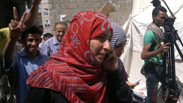 Women inspired to protest in Yemen