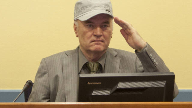 Ratko Mladic makes his first appearance at the International Criminal Tribunal on June 3, 2011 in The Hague.