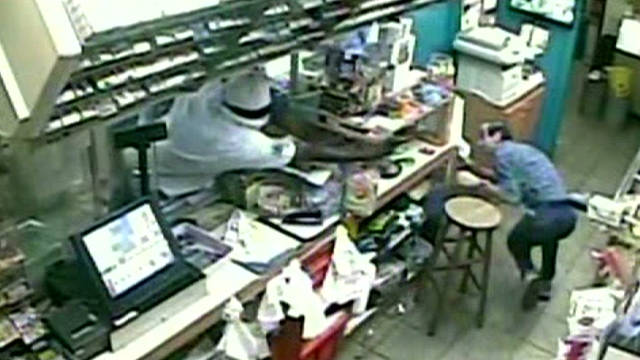 Gas station robbery backfires