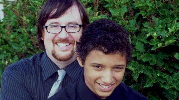 Damon Fietek, pictured with his father Jefferson, says he