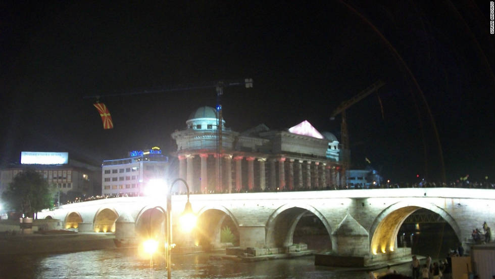 "This Ottoman era bridge plays an important role in connecting ""the old and the new of Skopje,"" says iReporter Goran Andev. Built between 1451 and 1469, the historic structure links central Skopje to the city's Old Bazaar area."
