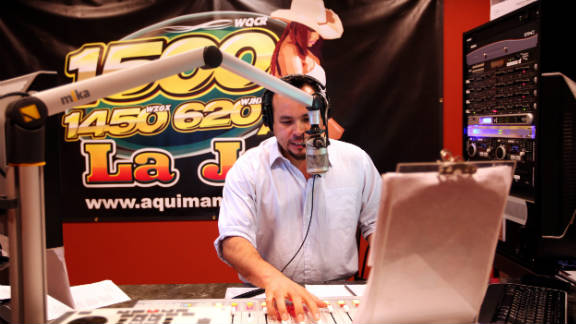 Jose Antonio Castro is a radio personality at La Jefa, a Pelham station that helped publicize the protest.