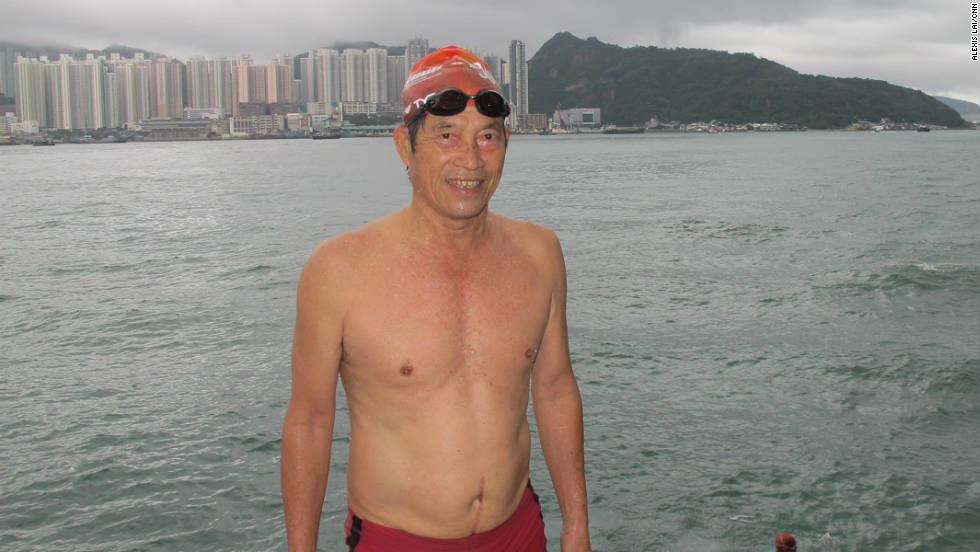 Others, such as 70-year-old Mr. Tang, have been swimming here for as long as 20 years.