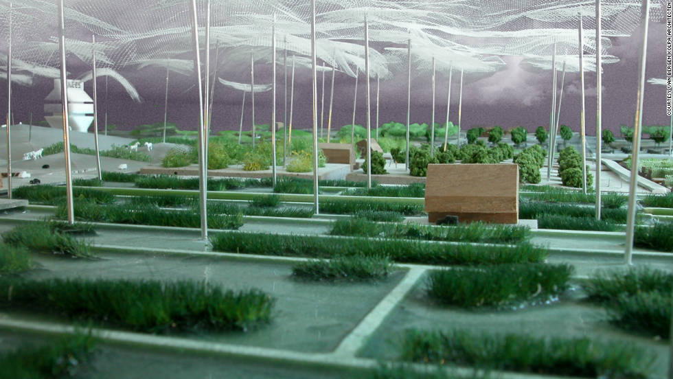 Warmth-accumulating snake walls and more contemporary solutions such as insulating water spray 'roofs' and geothermal heating would create the necessary climate to grow whatever food was demanded in the urban environment.