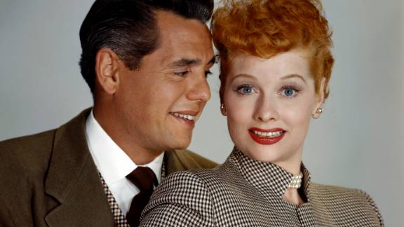 """Actress Lucille Ball and her husband, actor Desi Arnaz, were two of the stars of the hit television series """"I Love Lucy."""" The black-and-white show premiered on October 15, 1951, and ran until 1957. It was the most watched show for four of its six seasons."""