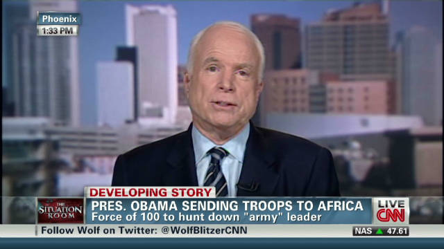 McCain: Lord's Resistance is barbaric