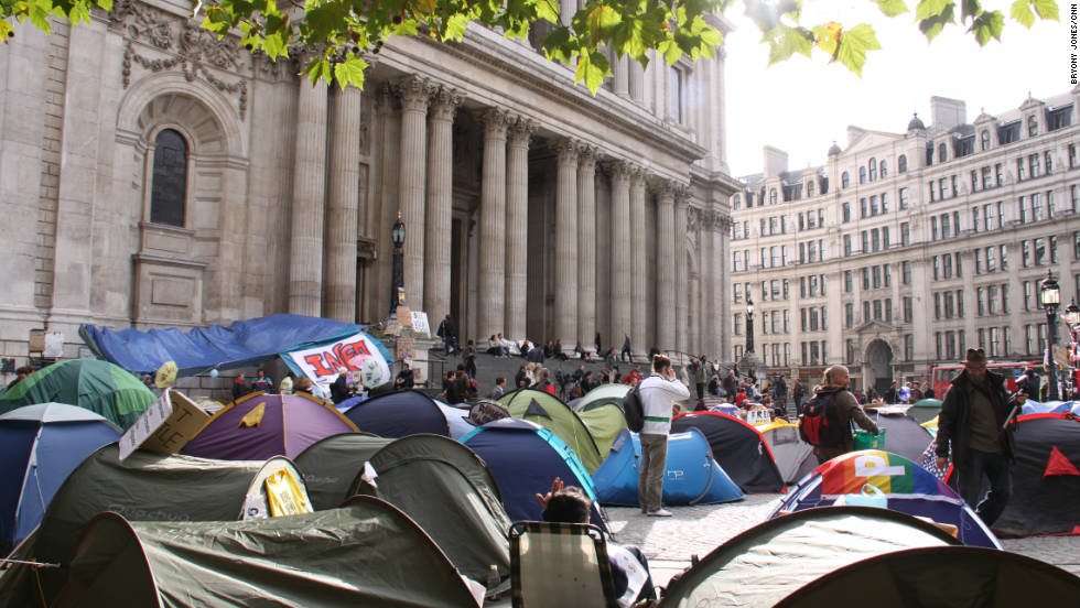 Instead the Canon Chancellor of nearby St Paul's Cathedral said the group were welcome to set up camp on the church grounds.