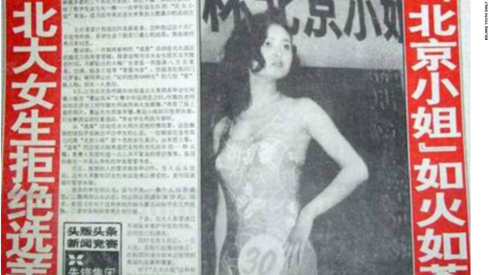 "In 1993, when the Miss World beauty pageant was commanding 1.8 billion viewers worldwide, according to its official website, the front page of the state-run Beijing Youth Daily published an article with a big, red headline reading, ""Peking University women reject beauty pageants."""