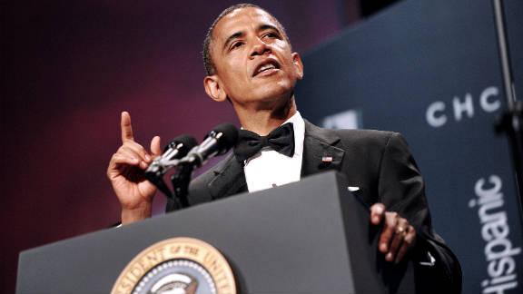 President Barack Obama speaks at the Congressional Hispanic Caucus Institute's awards gala in Washington on September 14.