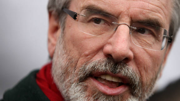 """Gerry Adams said he was hopeful the conference would """"mark a step change in the process for change"""" in the region"""