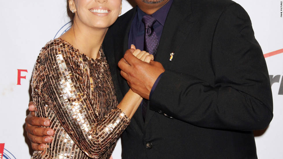 Eva Longoria and George Lopez attend a gala in Las Vegas.