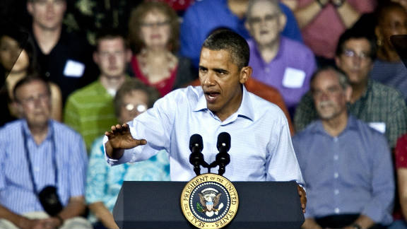 President Obama told audiences Monday that proposals put forward by his GOP critics fail to restore economic growth.