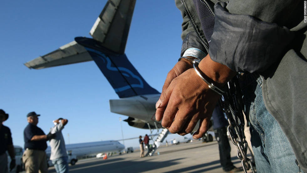 An Undocumented Immigrant Prepares To Board A Deportation Flight To  Guatemala In Mesa, Arizona,