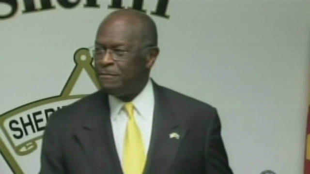 Cain meets with controversial sheriff