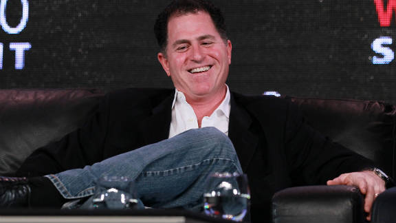 Dell founder and CEO Michael Dell answered questions onstage at the Web 2.0 Summit.