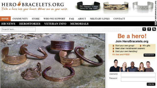 Herobracelets.org donates $2 from each sale to approved military family support organizations, according to its website.