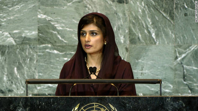 "Hina Rabbani Khar, Minister for Foreign Affairs of Pakistan, shown addressing the 66th General Assembly on September 27, 2011 at the United Nations in New York, said Pakistan would grant India ""Most Favored Nation"" status."