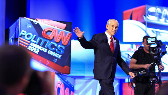 Rep. Ron Paul of Texas joined the candidates in attacking Cain