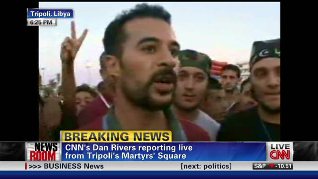 Libyans react to Gadhafi's death