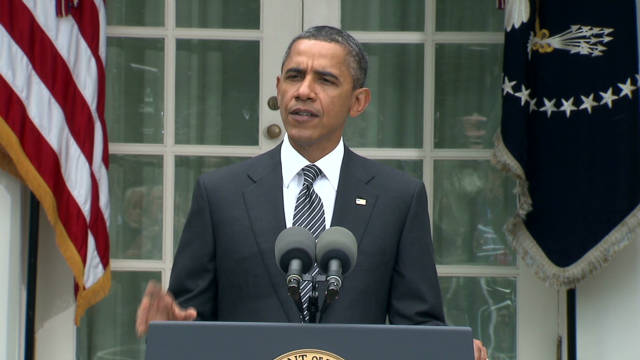 Obama speaks on Gadhafi's death