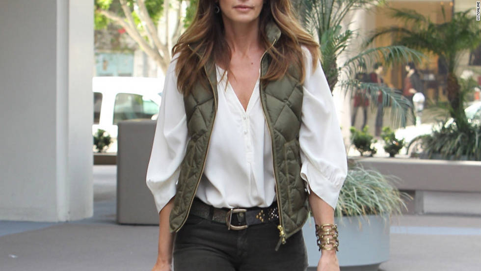 Cindy Crawford goes shopping in West Hollywood.