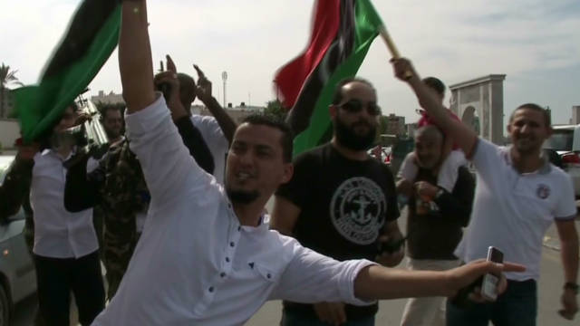 Libyans celebrate in Tripoli