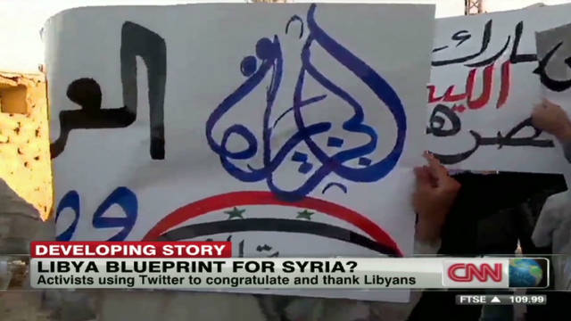 Syrian protesters buoyed by Gadhafi death
