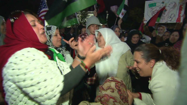 Libyans celebrate in front of White House