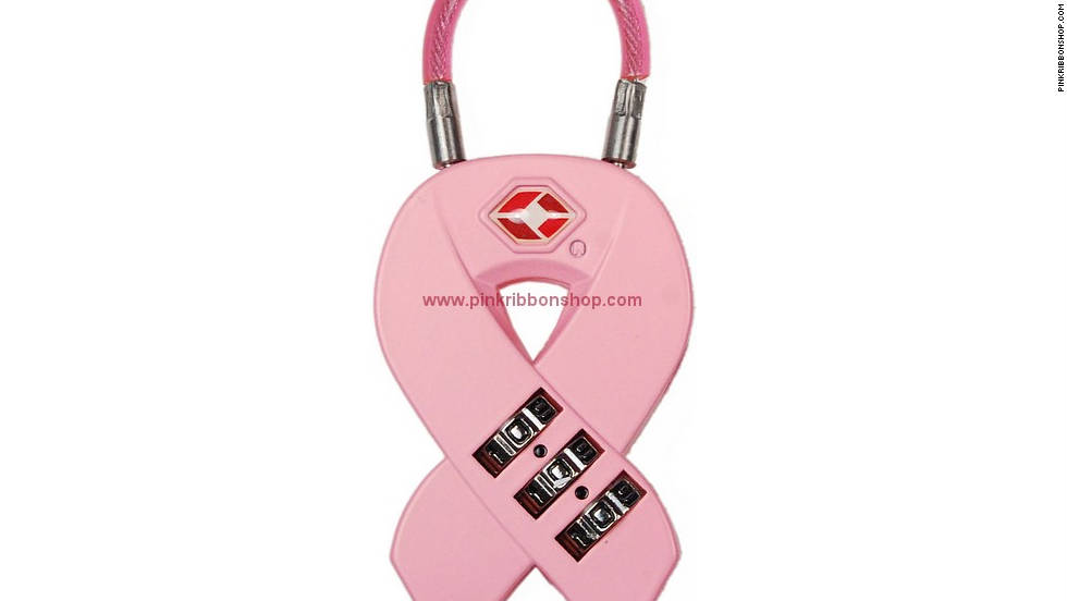 "Pink Ribbon cable lock from <a href=""http://www.pinkribbonshop.com/pink-ribbon-cable-lock.aspx"" target=""_blank"">PinkRibbonShop.com</a>"