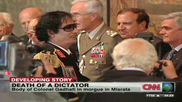 Gadhafi's burial delayed