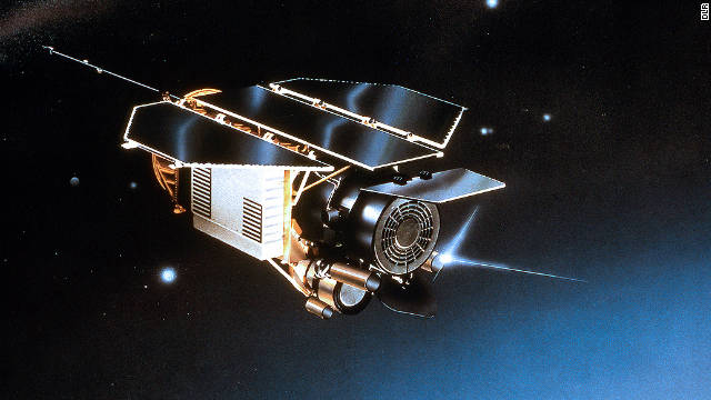 Artist rendition of the ROSAT German satellite