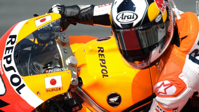 Dani Pedrosa steers his Repsol Honda machine to pole position in Malaysia