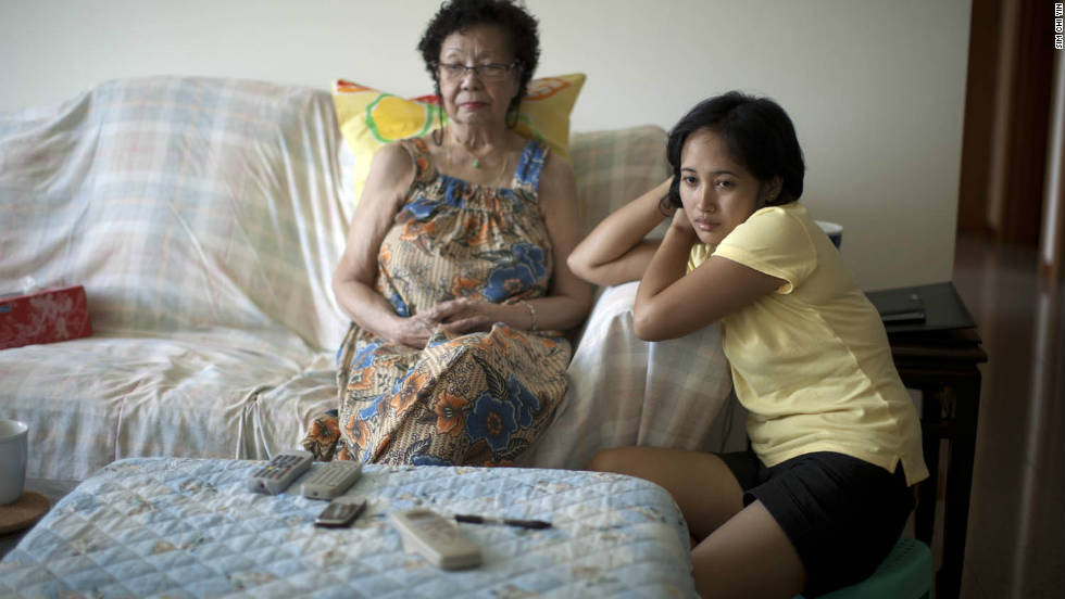 "In Singapore, many domestic workers are employed to care for elderly relatives, as well as young children. ""The key reason why we need them is because there are no affordable childcare services and no affordable elderly daycare services,"" says Vincent Wijeysingha from TWC2."