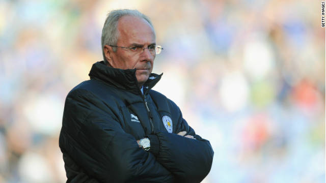 Sven-Goran Eriksson watches on during his last match in charge for Leicester at the weekend