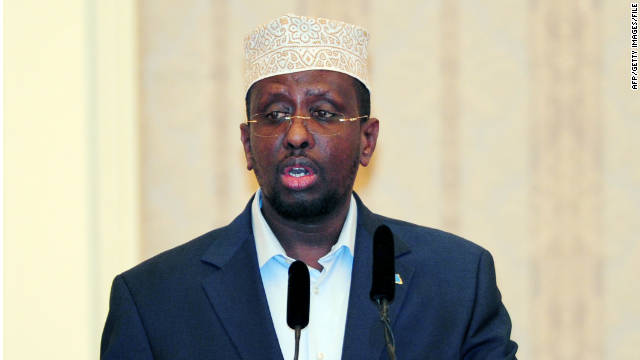 Somalia's President Sheikh Sharif Ahmed speaks during a meeting in August.