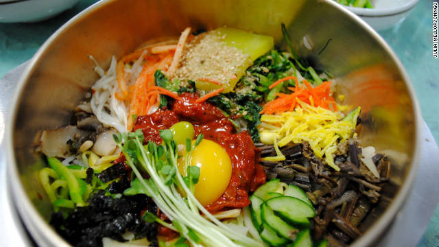 A dish of Bibimbap in Jeonju