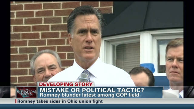 Romney's political gaffe or tactic?