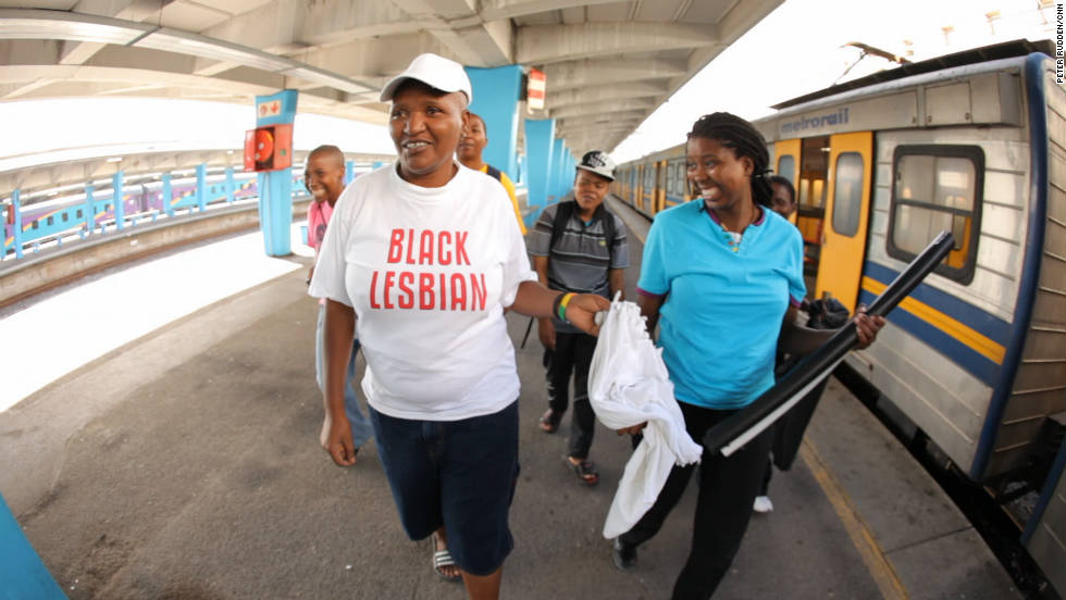 Cape Town, Africa's unofficial 'gay capital' is less than 40 kilometers from Khayelitsha where Gaca lives and was raped. For activist Funeka Soldaat, in her 'black lesbian' T-shirt Cape Town is a place where she can be herself.