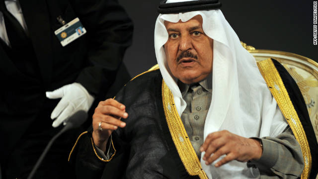 Saudi Interior Minister Prince Nayef bin Abdul Aziz attends the 33rd King Faisal International Prize ceremony in Riyadh on March 13.