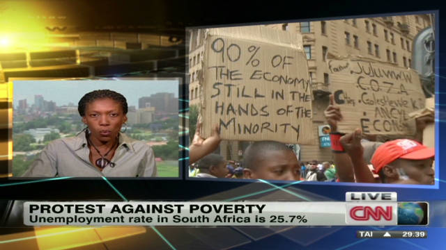 South Africa's protest against poverty