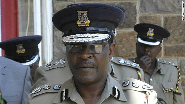 Kenyan Police Commissioner Mathew Iteere, pictured here on October 24, said it's unclear who carried out the attack.