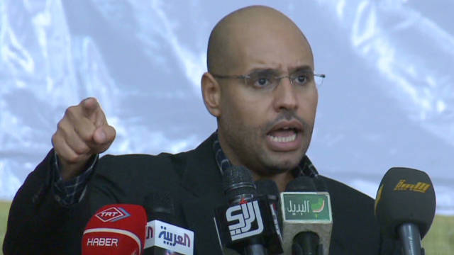 Gadhafi's fugitive son may surrender