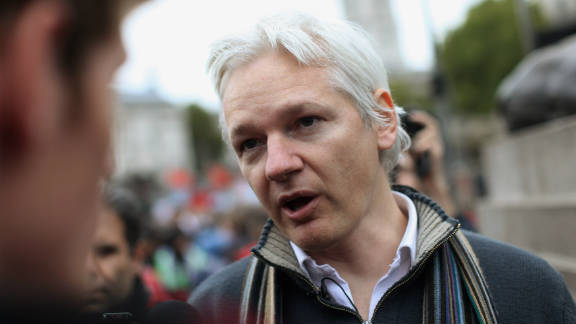Julian Assange has been living in the Ecuadorian Embassy in London since applying for political asylum on June 19.